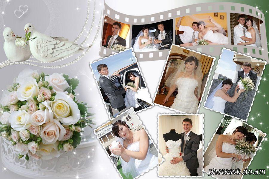 Коллажи на свадьбу своими руками